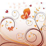 Abstract background with butterflies. Vector illustration of an abstract spring background with butterflies Royalty Free Stock Photo
