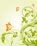 Abstract background with butterflies Stock Image