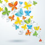Abstract background with butterflies. Stock Images
