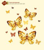 Abstract background with butterflies for your Stock Images