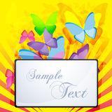 Abstract background with butterfly Royalty Free Stock Images