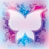 Abstract background with butterfly. And blots, vector, eps 10 royalty free illustration