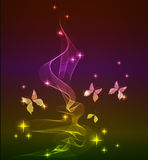 Abstract background with butterfly Stock Photography