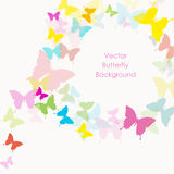 Vector background with butterfly Stock Photo