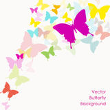 Vector background with butterfly Royalty Free Stock Photos