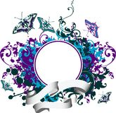 Abstract background with butterfly. Grunge background with butterfly. Vector illustration vector illustration