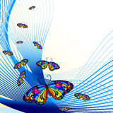Abstract background with butterfly royalty free illustration