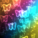 Abstract background butterfly with gradient. Abstract gradient background with butterfly stock illustration