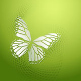 Abstract background with butterfly. Abstract green background with butterfly royalty free illustration