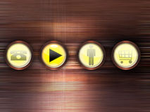 Abstract background with buttons. Abstract background with four buttons stock illustration