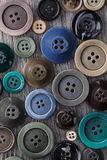 Abstract background of buttons of different sizes. And colors, top view Stock Images
