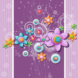 Abstract background of the buttons in the shape of flowers. Stock Images