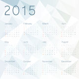 Abstract background with calendar 2015 Stock Photo