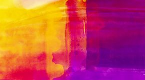 Abstract background texture in bright paint purple yellow color.