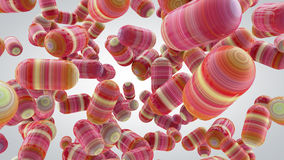 Abstract background with capsules, tablets, 3D rendering, stretc. Hed pixels texture royalty free illustration