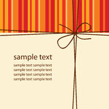 Abstract background, card, bow Royalty Free Stock Photo
