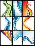 Abstract background card collection set Royalty Free Stock Photo