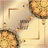 Abstract background card frame 3d. Retro lace oriental abstract background card frame 3d vector illustration