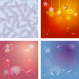 Abstract background card for Merry Christmas. Snowflakes, Christmas decorations. Abstract blue background with highlights. Vector illustration stock illustration