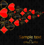 Abstract background with card suits for design. Stock Photography