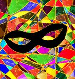 Abstract colored background image mask. Abstract background carnival mask colored image consisting of lines Royalty Free Stock Photos