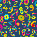 Abstract background with cartoon numbers Stock Image