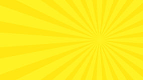 Abstract background with cartoon rays of yellow color. Template for your projects. The cartoon sun. Flat style Stock Image