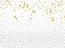 Abstract background celebration gold confetti. vector background. Eps. 10 Stock Photo