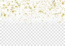 Abstract background celebration gold confetti. vector background. Eps. 10 Stock Image