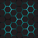 Abstract background with cells. Abstract background with hexagonal  cells Royalty Free Stock Photos