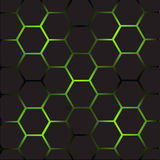 Abstract background with cells. Abstract background with hexagonal  cells Stock Photography
