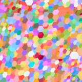 Abstract background with colorful hex polygons Royalty Free Stock Photography