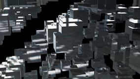 Abstract background with chaotic cubes. 3d rendering.  Royalty Free Stock Photos