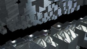 Abstract background with chaotic cubes. 3d rendering.  Royalty Free Stock Image