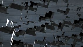 Abstract background with chaotic cubes. 3d rendering.  Stock Images