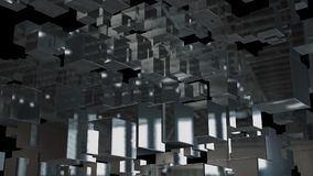 Abstract background with chaotic cubes. 3d rendering.  Stock Image