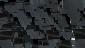 Abstract background with chaotic cubes. 3d rendering.  Stock Photo