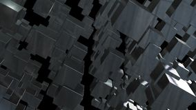 Abstract background with chaotic cubes. 3d rendering.  Royalty Free Stock Images
