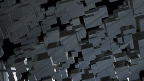 Abstract background with chaotic cubes. 3d rendering.  Stock Photos