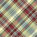 Abstract background check fabric texture seamless pattern. Vector illustration Stock Image