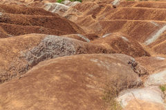 abstract background of Cheltenham badlands in Caledon, Ontario Stock Photos