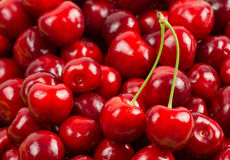Abstract background of cherry fruits Stock Photography