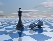 Abstract background with chess kings fight Royalty Free Stock Photo