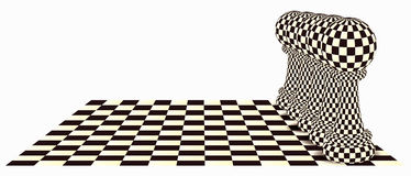 Abstract background with a chess pawn, vector. Illustration royalty free illustration
