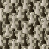 Abstract background of chess piece. Abstract seamless background of chess pieces with blackboard Stock Images