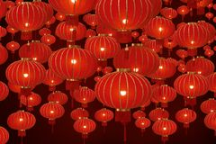 Abstract background with chinese lanterns Stock Images