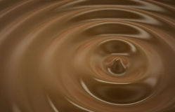 Abstract background with chocolate circles Royalty Free Stock Image