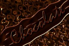 Abstract background of chocolate with the inscription on the diagonal. Stock Image
