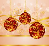 Abstract background with Christmas balls Stock Image