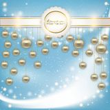 Abstract background with Christmas balls Royalty Free Stock Images